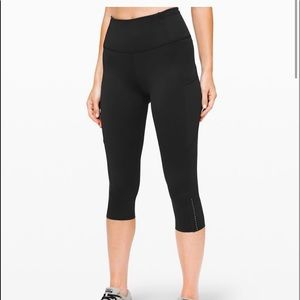 Lululemon Fast and Free Crop || 19' *Nulux Size 8